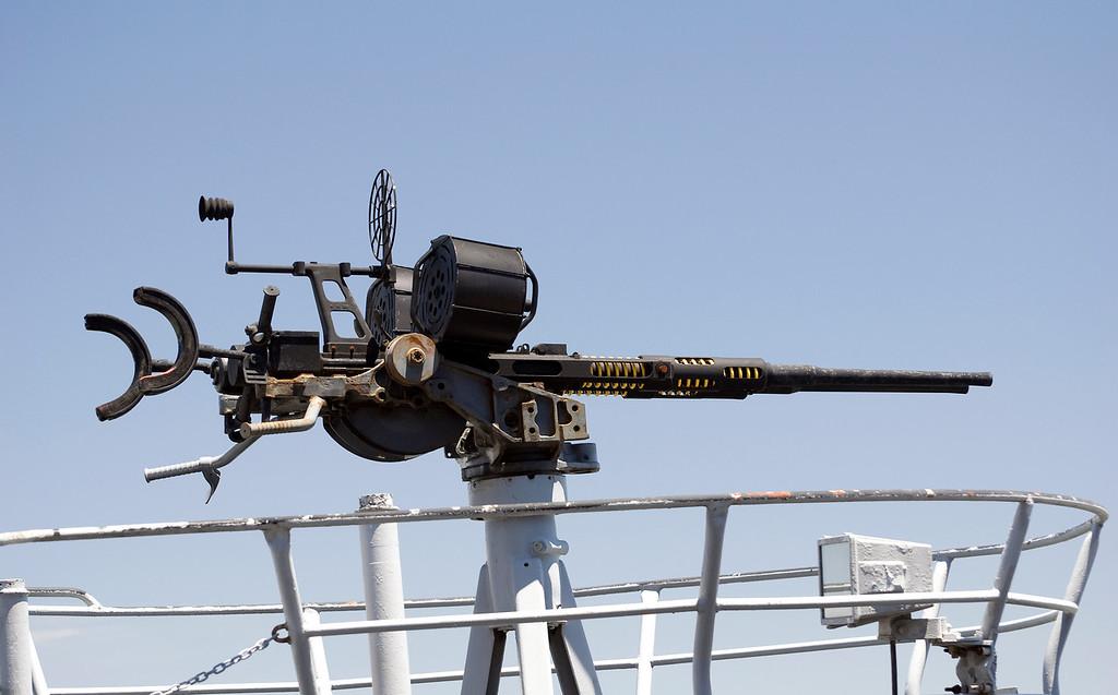 20-mm AA Gun USS Pampanito SS-383 WWII Balao Class Fleet Submarine