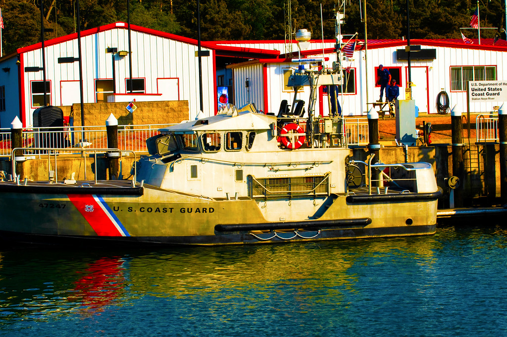 U.S. Coast Guard Station Noyo River<br /> Noyo River, Fort Bragg, California