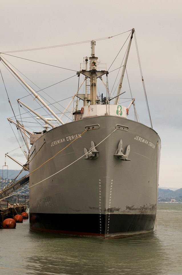 Liberty Ship S. S. Jeremiah O'Brien<br /> Pier 45, San Francisco Maritime National Historical Park, Fisherman's Wharf, San Francisco, California