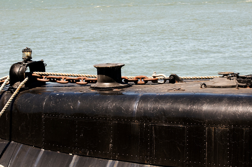USS Pampanito SS-383 WWII Balao Class Fleet Submarine<br /> Pier 45, San Francisco Maritime National Historical Park, Fisherman's Wharf, San Francisco, California
