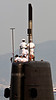 May 9, 2012-Kure Port, Japan. Japanese Navy submarine puts out to sea.
