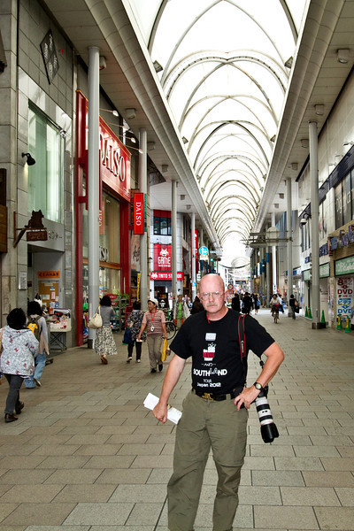 May 9, 2012-Hiroshima, Japan. In the Ginza (Shopping) area.