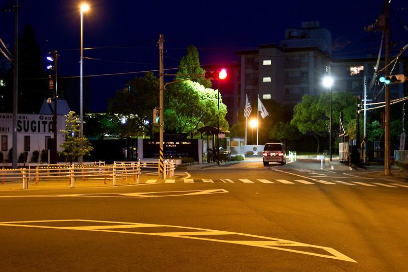May 11, 2012. Main gate at MCAS Iwakuni, Japan.