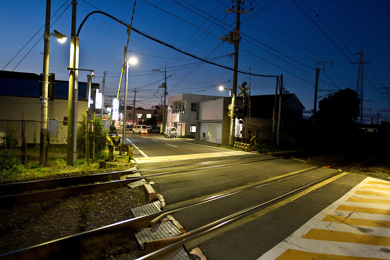 May 11, 2012. Outside main gate at MCAS Iwakuni, Japan. It is mostly deserted these days. This facing north, away from the main gate.