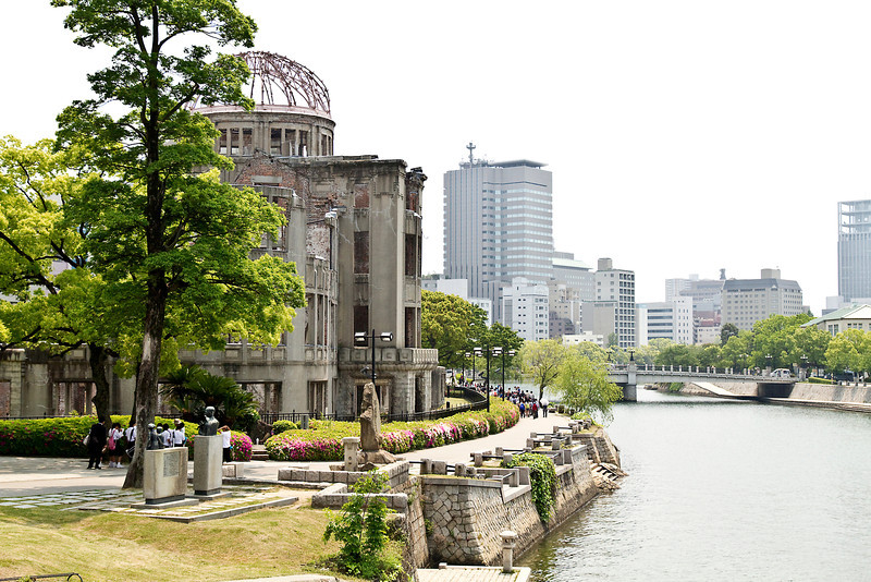 May 9, 2012-Peace Park, Hiroshima, Japan. A-Bomb Dome.