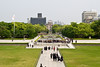 May 9, 2012-Peace Park, Hiroshima, Japan. A-Bomb Dome in the background.