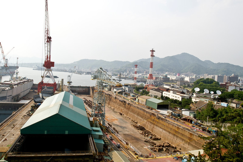 May 8, 2012-Kure Port, Japan. Kure Shipyard.