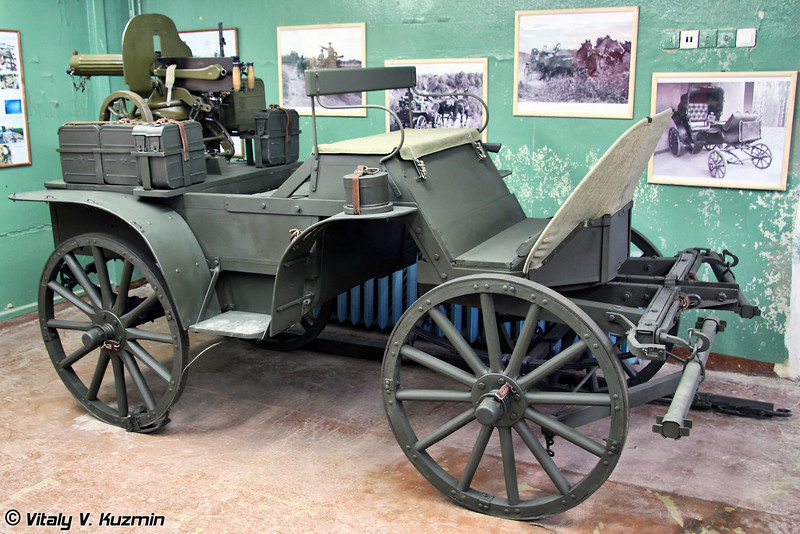 Тачанка с пулеметом Максима (horse-drawn machine gun platform Tachanka with Maksim machine gun)