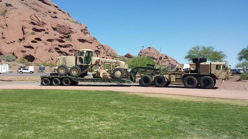 AZ National Guard HEMTT and Grader