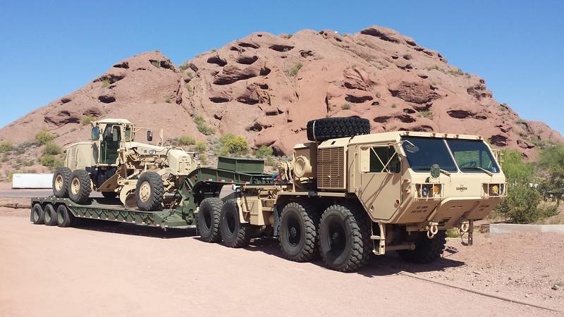 AZ National Guard HEMTT and Grader a