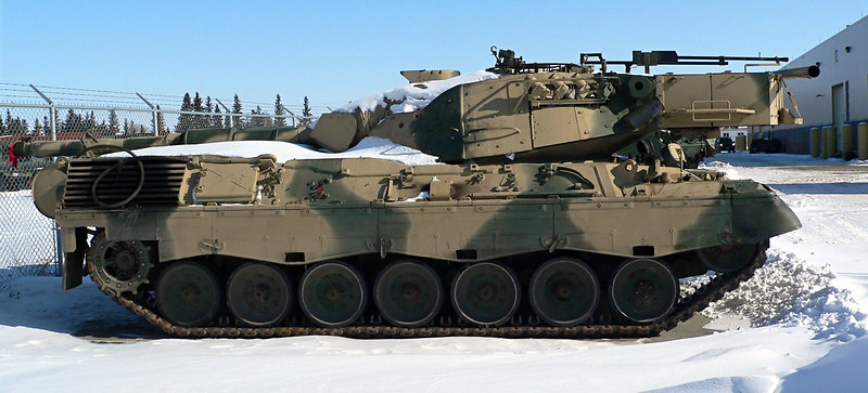 Cold Warrior<br /> <br /> A Canadian Armed Forces Main Battle Tank - the Leopard C2.  This one shows the MEXAS armour and a thermal sight. Soon to be moth balled.