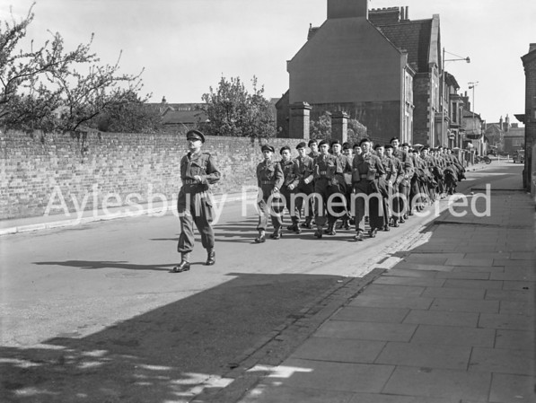 Territorials marching down Great Western Street, Aug 9 1954