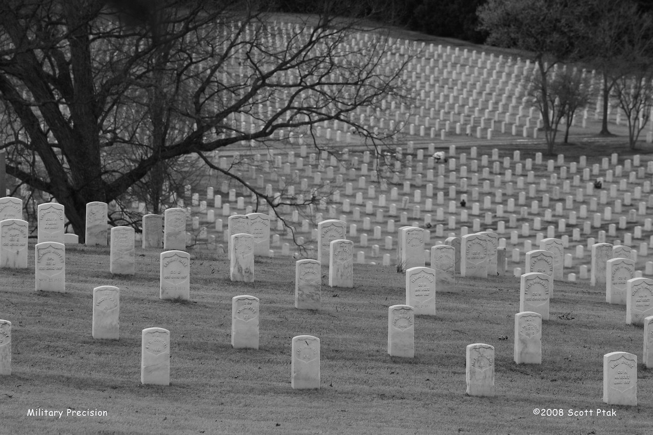 Military Precision - National Cemetery, Chattanooga, Tennessee