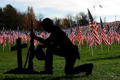 Healing Field of Honor - Naperville, Illinois - Kneeling Soldier Statue