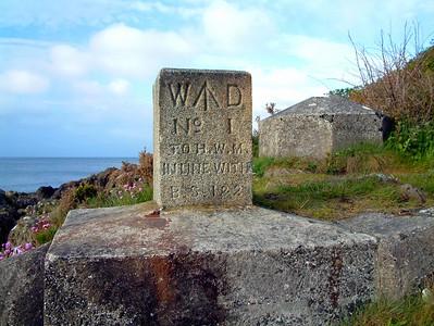 War Department Boundary Marker near Helen's Bay, County Down.