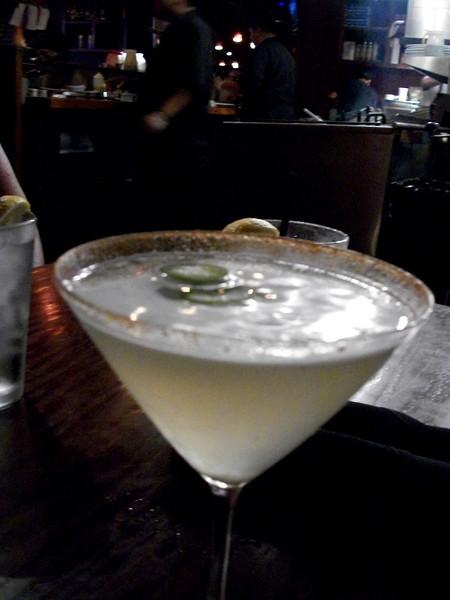 jalapeno martini - yum!