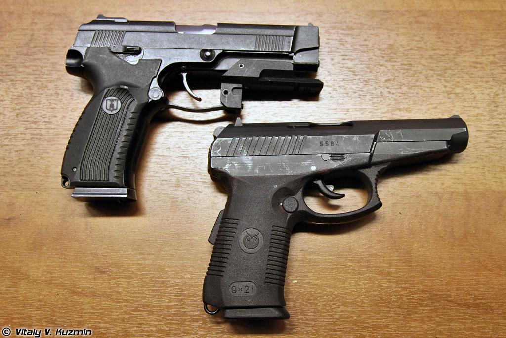 Пистолеты ПЯ и СР1М (PYa and Sr1M pistols)