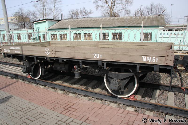 Двухосная технологическая платформа с неоткидными бортами 1935 г. (Open goods van)