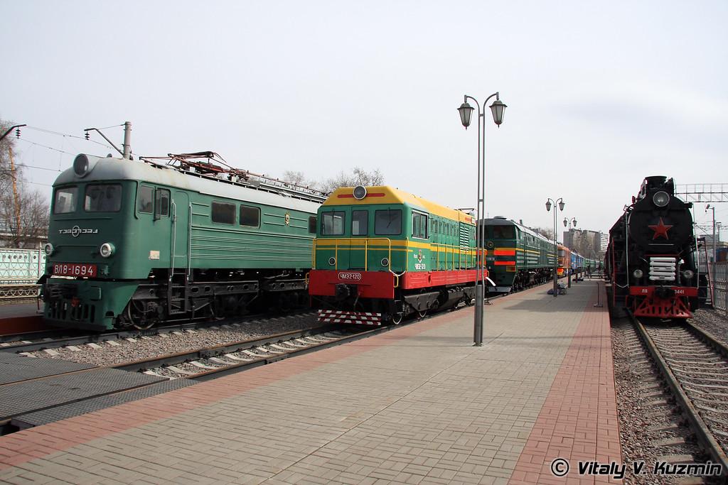 Электровоз, Тепловоз и Паровоз (Electric, diesel and steam locomotives)