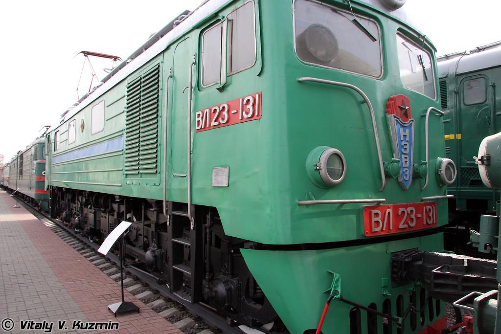 Электровоз ВЛ23-131 построен в 1961г. на Новочеркасском электровозостроительном заводе (Electric VL23-131 was built in 1961 by Novocherkassk locomotive-building plant)