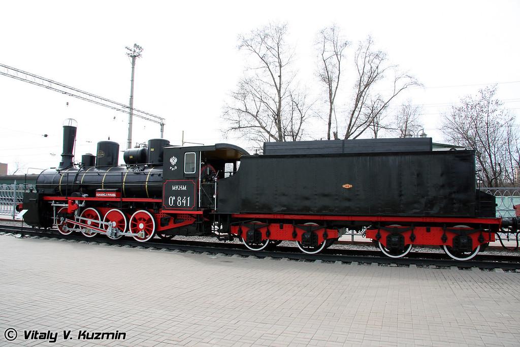 Паровоз О.в 841 построен в 1903 году на Брянском паровозостроительном заводе (O.v 841 was built in 1903 by Bryansk locomotive-building plant)