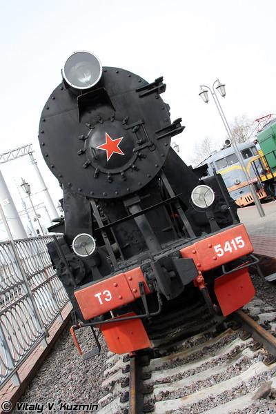 Паровоз ТЭ-5415 построен в 1943 году в Германии (TE-5415 was built in 1942 in Germany)