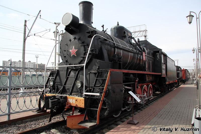Паровоз Эр 766-11 построен в 1949 г. в Венгрии (Er 766-11 was built in 1949 in Hungary)