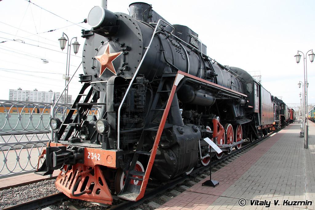 Паровоз Л-2342 построен в 1954г. на Коломенском заводе (L-2342 was built in 1954 by Kolomna locomotive-building plant)