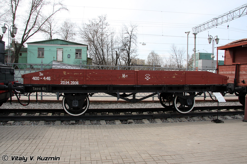 Двухосная платформа с откидными бортами 1917 г. Германия (Open goods van)