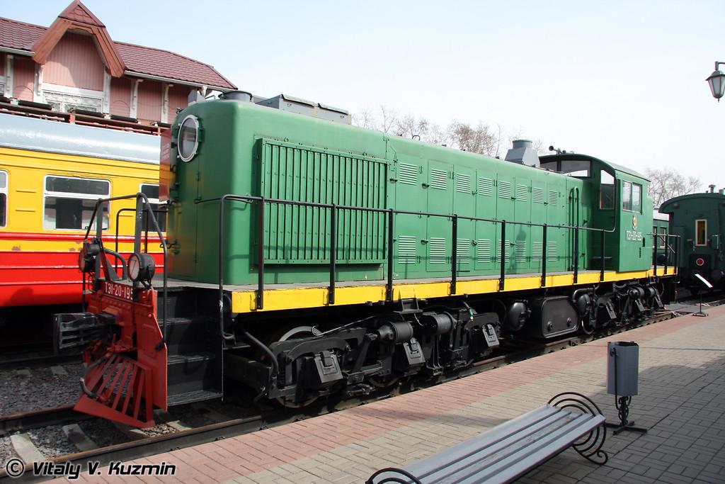 Тепловоз ТЭ1-20-195 выпускался с 1947г. по 1950г. на Харьковском заводе (Diesel TE1-20-195 were built from 1947 till 1950 by Kharkov locomotive-building plant)