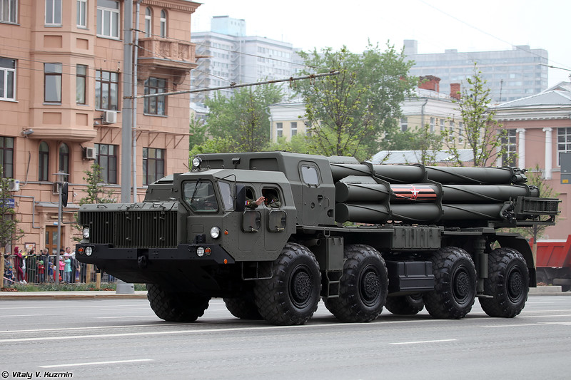 БМ 9А52-2 РСЗО 9К58 Смерч (9A52-2 launcher for 9K58 / BM-30 Smerch MLRS)