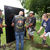 The Moving Wall Vietnam Veterans Memorial is set up on Wilmington Common.  (SUN/Julia Malakie)
