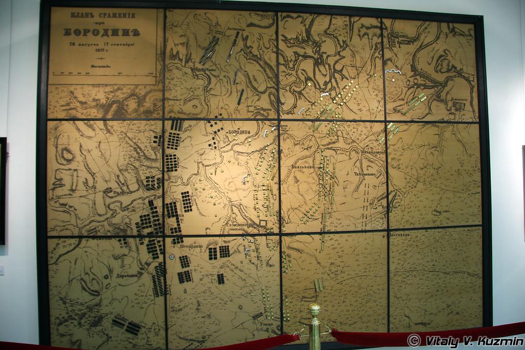 План сражения при Бородино (Borodino battle plan)