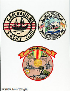 """Cam Ranh Bay Yacht Club;"" Inshore Undersea Warfare Group 1, Westpac Detachment;  generic Vietnam War patch."