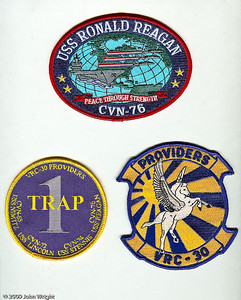 "USS Ronald Reagan (CVN-76), One-trap patch from VRC-30, VRC-30 ""The Providers"""