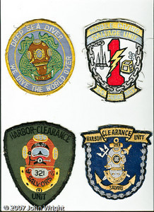 US Navy Deep Sea Diver patch; new Mobile Diving and Salvage Unit 1 (formerly HCU 1); Harbor Clearance Unit 1, Det. 321; Harbor Clearance Unit 1