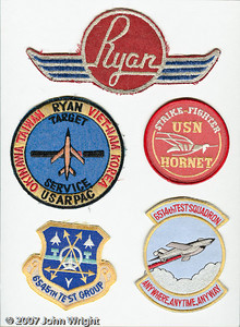 Teledyne Ryan Aeronautical patches.