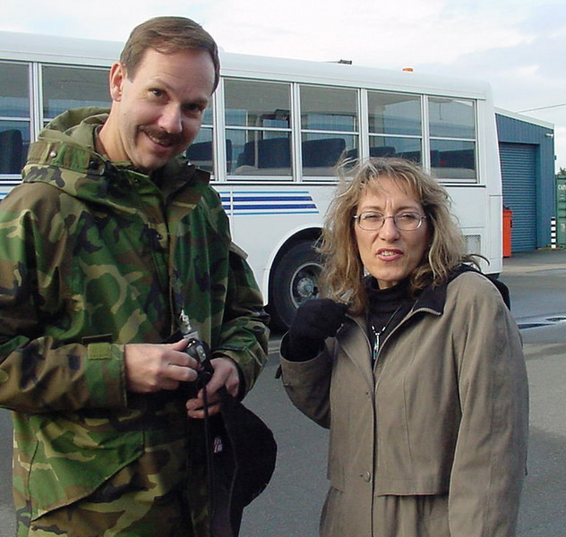 Lynn Fry and I in Christchurch New Zealand August 2002? it was winter there about 50 degrees. came home to March ARB on a C141 to 90 degree weather with all my winter stuff.