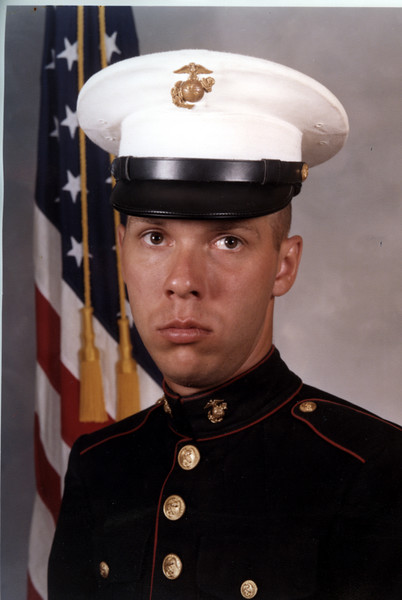 The boot camp photo. Marines are so polished if you look close, you will see the dirty hat and tarnished emblem. I didn't notice it until I scanned it into the PC, I do however remember it being sub standard.