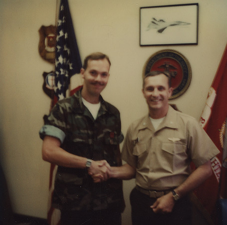 Getting my 1st Good Conduct Medal 1983 some time.