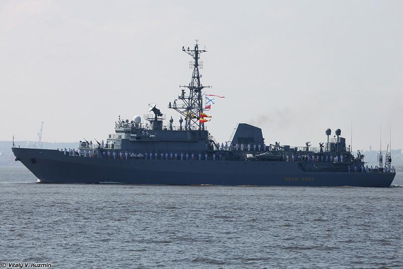 Разведывательный корабль (судно связи) Иван Хурс проекта 18280 (Ivan Khurs intelligence ship Project 18280 Yuriy Ivanov-class)