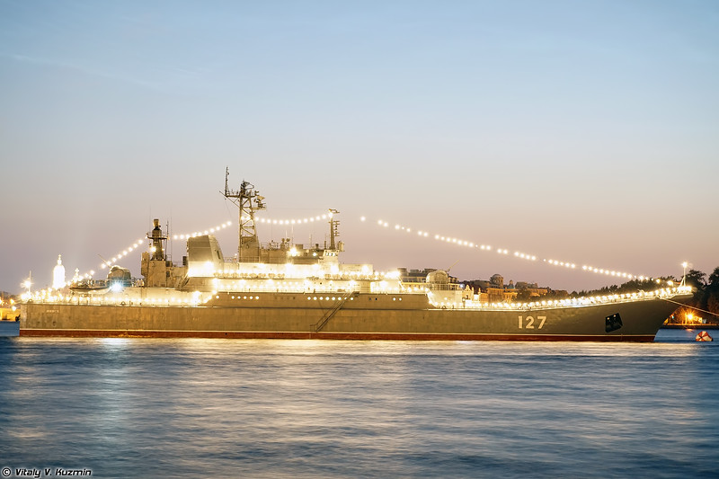БДК Минск проекта 775 (Minsk landing ship Project 775 Ropucha-class)