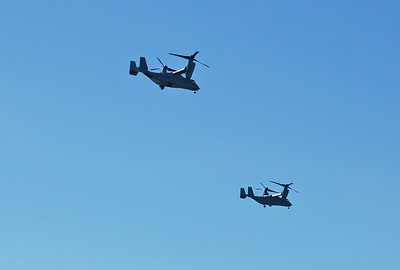 Ospreys act as Helocopters