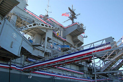 Midway decked out for 100th Anniversary of Naval Aviation