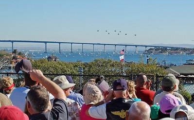 Hueys over the Coronado Bridge