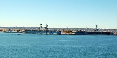 North Island Open House Ships USS John C. Stennis, CVN-74; USS Pelelui, LHA-5; USS Pinckney, DDG-91