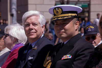 Toby Mack - VP US Navy Memorial Commander Mototaka Hogaki -  Japanese Assistant Naval Attache
