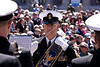 "Blessing of the Fleets - at the U.S. Navy Memorial (2009) : 18th Annual Blessing of the Fleets - April 4, 2009               www.navymemorial.org Passed down through generations of sailors, fishermen, merchant mariners and navies around the world, the centuries-old ""Blessing of the Fleets"" ceremony is intended to safeguard fishing crews and ships from the danger of the seas through a traditional blessing given by a clergyman at the water's edge. As a tribute to our nation's rich maritime heritage and the men and women who have contributed to its growth and success, the United States Navy Memorial hosts its annual Blessing of the Fleets ceremony each spring.  At the United States Navy Memorial, the ceremony's highlight occurs when Sailors from the U.S. Navy's Ceremonial Guard proceed across the Memorial Plaza's ""Granite Sea"" to pour water from the Seven Seas and the Great Lakes into the surrounding fountains ""charging"" them to life and ushering in the spring season."