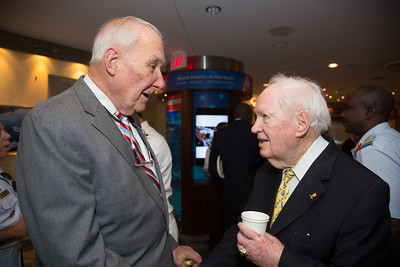 "Rear Admiral Edward K. ""Ted"" Walker Jr., SC, USN (Ret) and John Cosgrove"