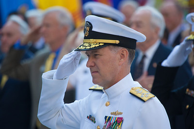 Admiral Mark E. Ferguson III currently serves as the 37th Vice Chief of Naval Operations. Here laying a wreath in commemoration of those who served at the Battle of Midway.